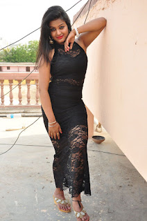Actress Pentali Sen Stills in Black Lace Dress at Golmal Gullu Movie Pressmeet  0167.JPG