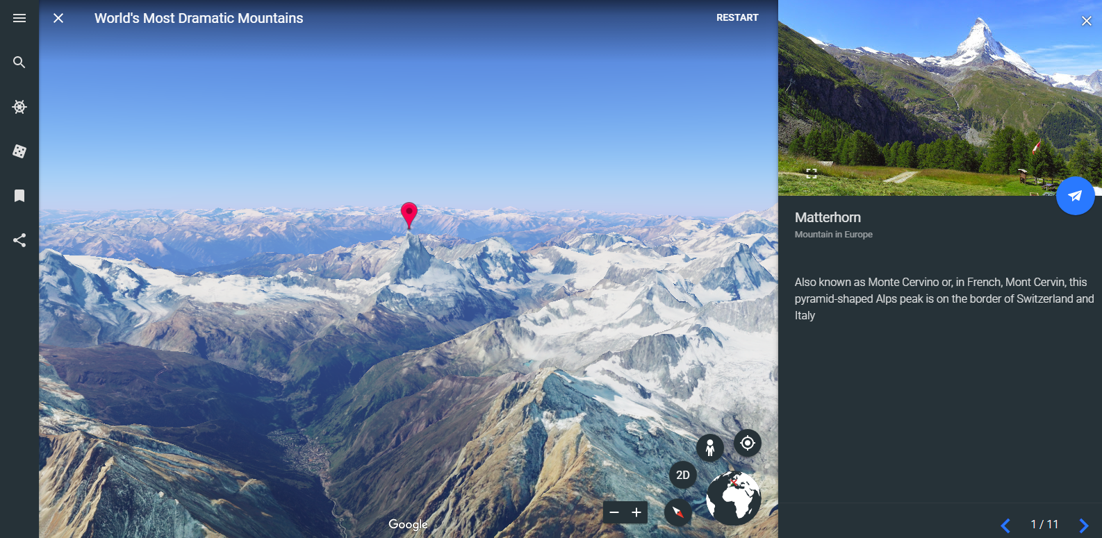 Free Technology for Teachers: A Tour of the New Google Earth
