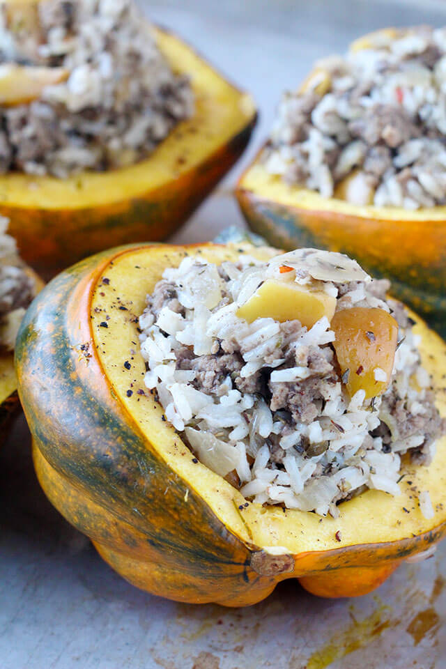 Healthy Stuffed Acorn Squash Recipe