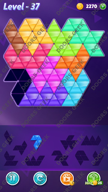 Block! Triangle Puzzle Master Level 37 Solution, Cheats, Walkthrough for Android, iPhone, iPad and iPod
