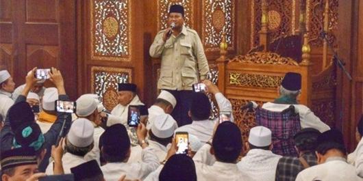Yakin Menang, Prabowo Subianto Gelar Doa Bersama dengan Sejumlah Tokoh Lintas Agama