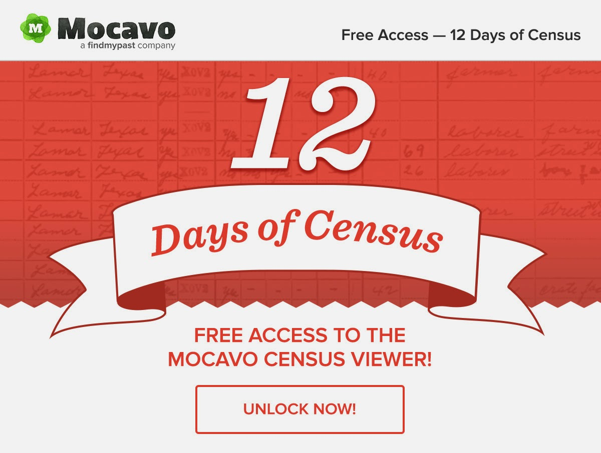 DearMYRTLE's Genealogy Blog: Mocavo: 12 Days of Census countdown