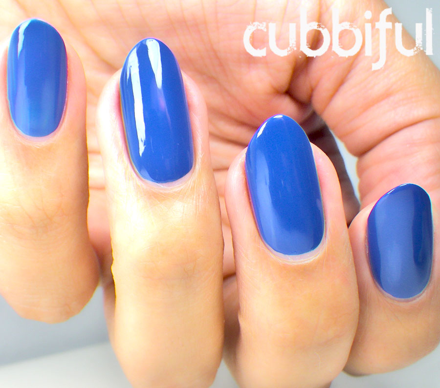 elegant blue nails