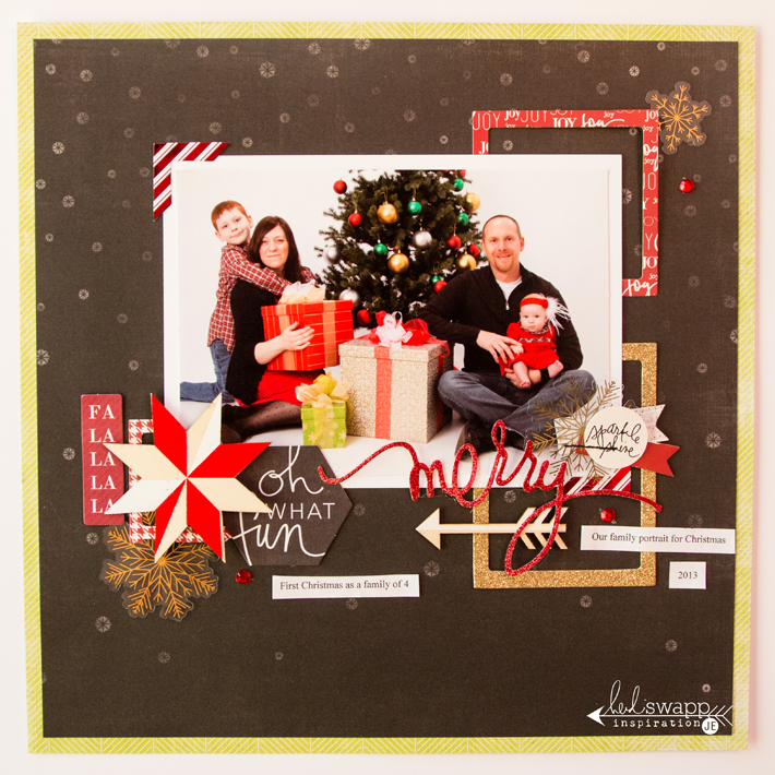 Oh What Fun Christmas layout by @createoften for @heidiswapp