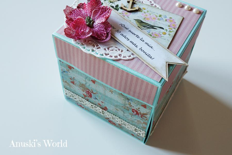Caja sorpresa álbum 30 cumpleaños para regalar a una amiga - Anuski ...