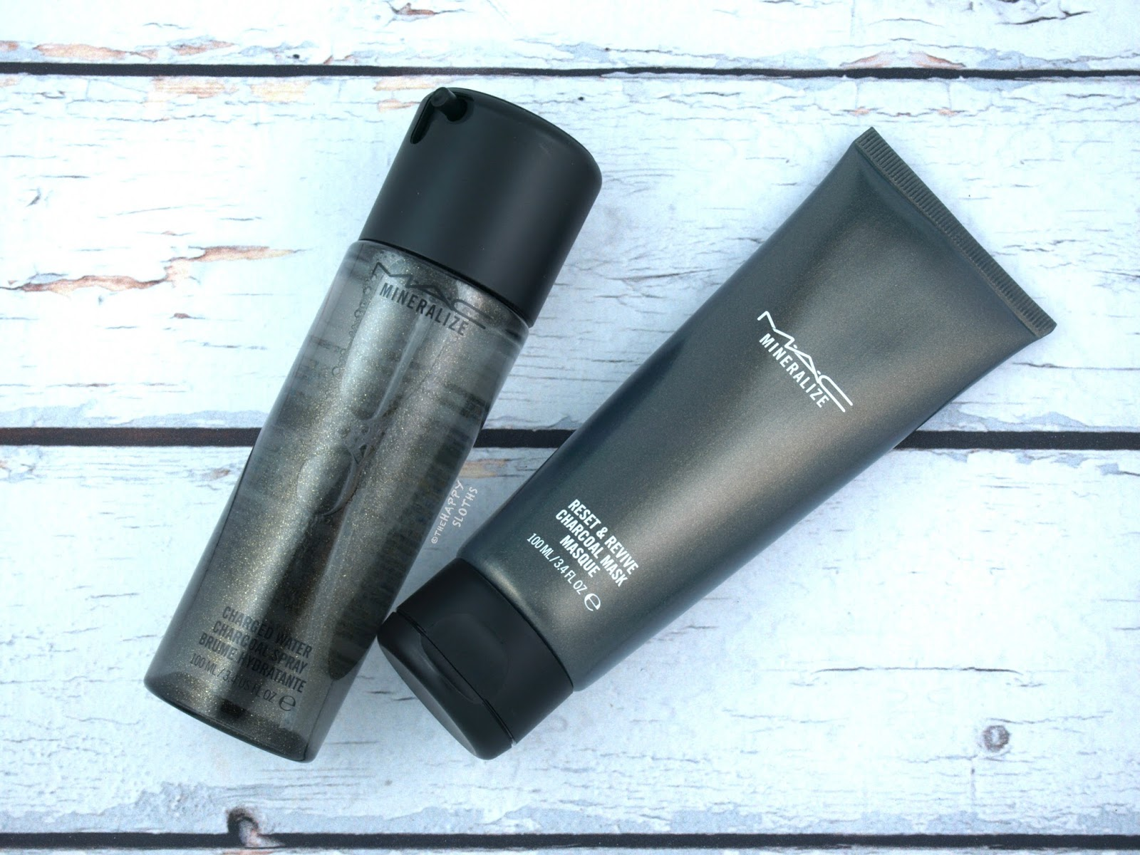 MAC | Mineralize Total Detox Charged Water Charcoal Spray and Reset & Revive Charcoal Mask: Review and Swatches