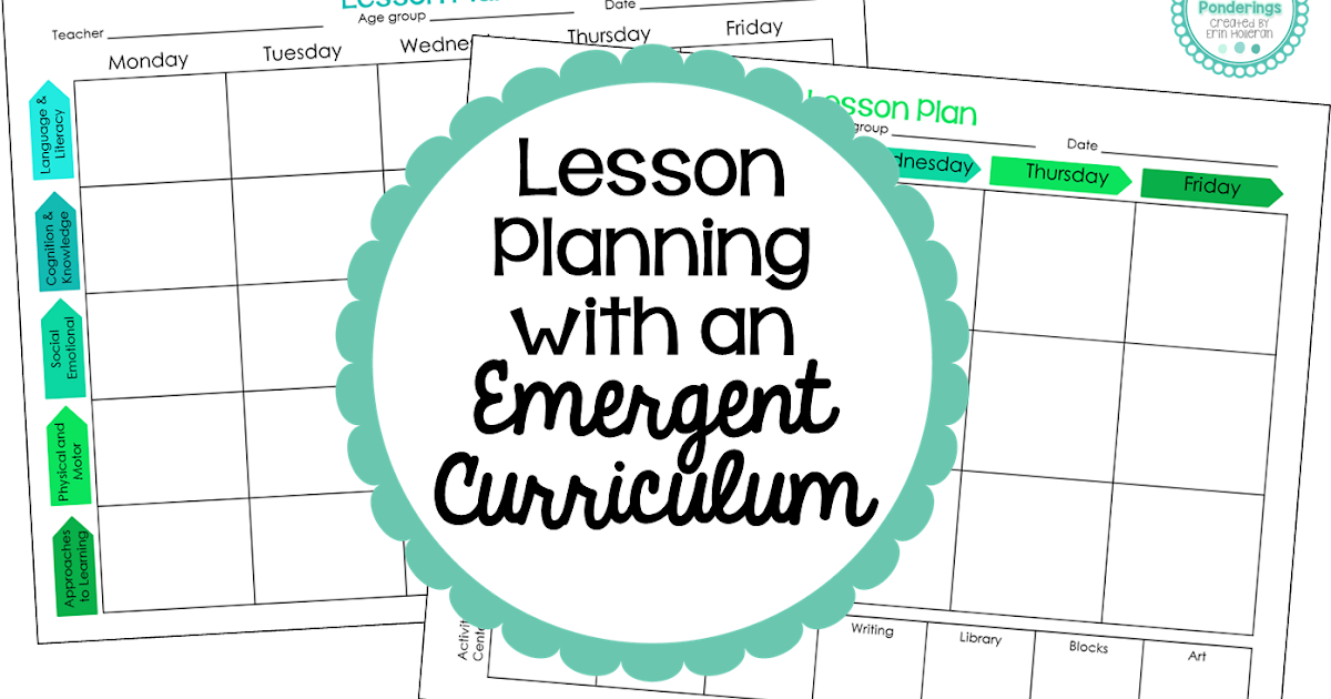 emergent curriculum planning template - preschool ponderings lesson planning with an emergent