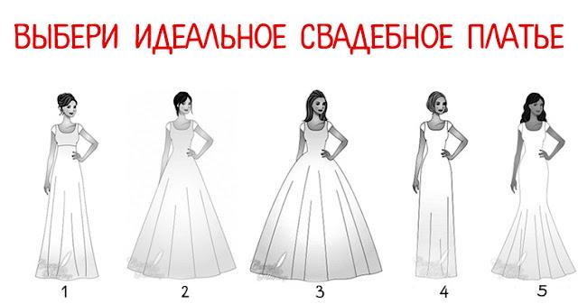 Выбери идеальное свадебное платье и узнай, какой у тебя характер Фото Эзотерика Тест самопознание выбор