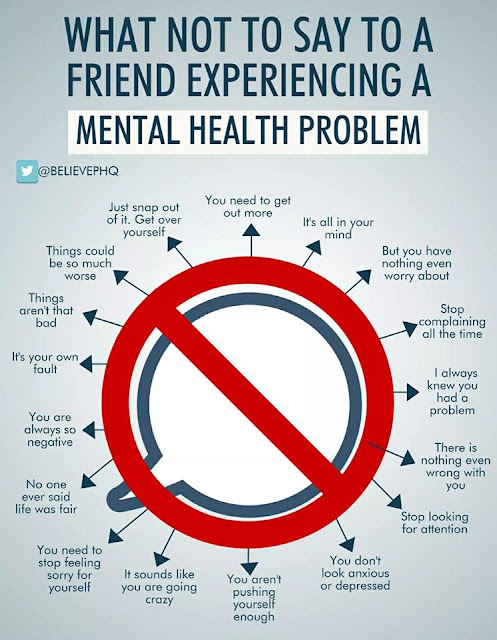 what not to say to a person with a mental health problem