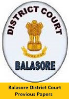 Balasore District Court Previous Papers