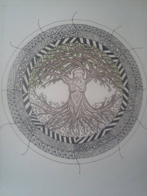 tree of life doodle ZIA zentangle doodleart
