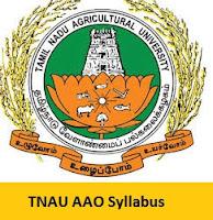 TNAU AAO Syllabus