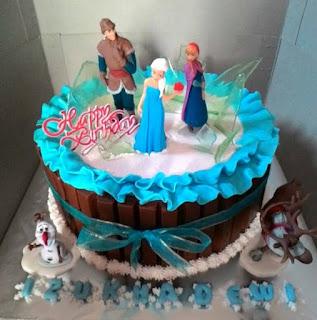 jual kue ulang tahun di padang tema frozen