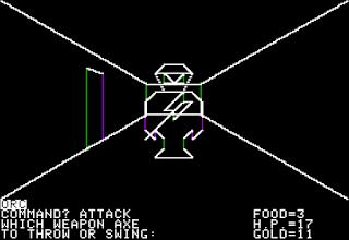 Pantallazo Akalabeth World of Doom- Apple II