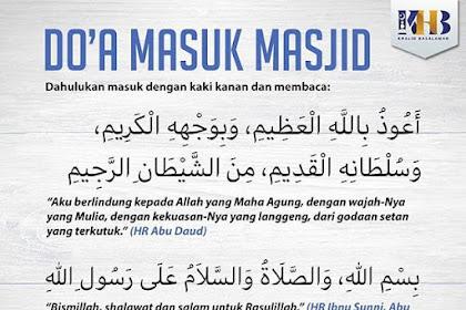 Doa Masuk Masjid Sesuai Sunnah