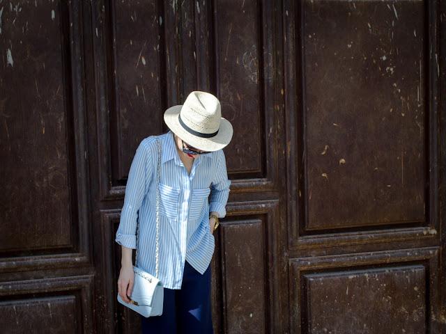 diyorasnotes_stripes_cullotes_hat_hm_bag_asos_fashionblogger_style