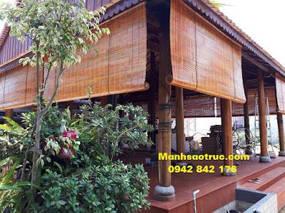 Mành tre che nắng nhà gỗ giá rẻ