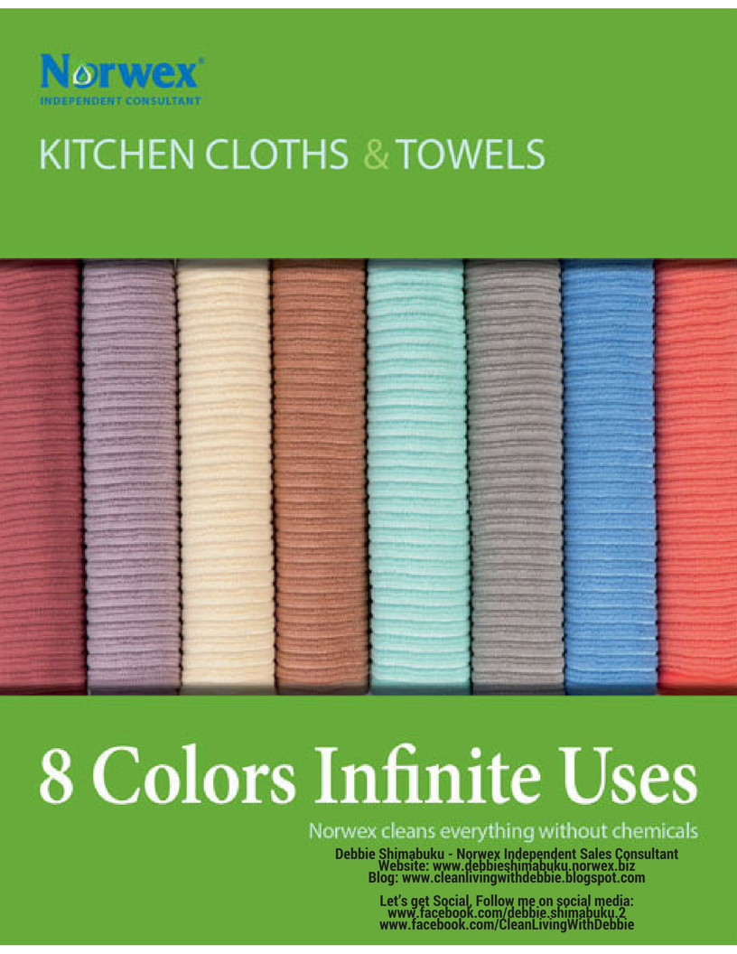 Kitchen Towel Set Sea Mist Norwex