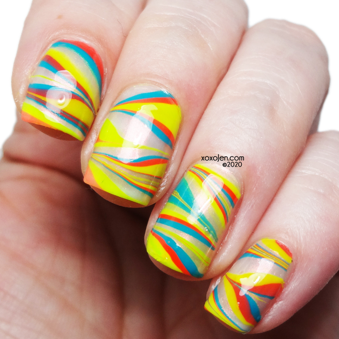 xoxoJen's swatch of Tonic: Neon Brights Nail Art