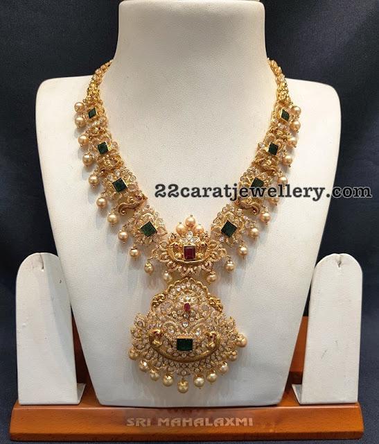 Peacock Emerald Set by Sri Mahalaxmi Jewellers