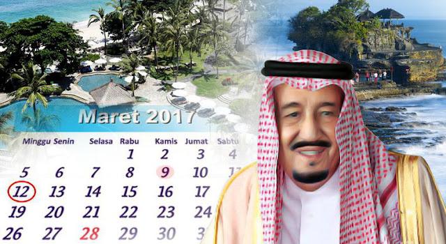 Betah Menikmati Alam Indonesia, Raja Salman Minta Liburan Diperpanjang 3 hari
