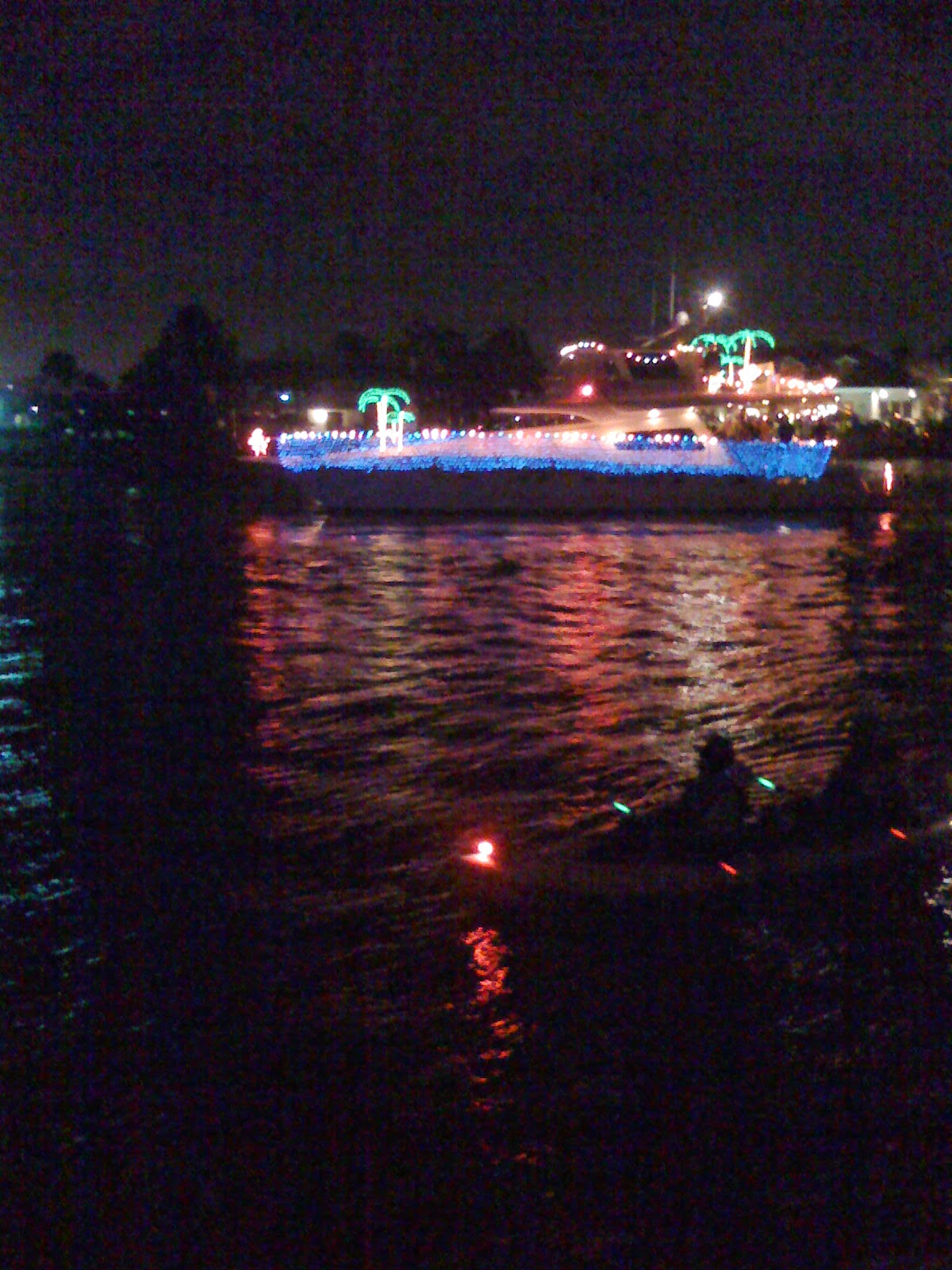 Exodus To Eden Christmas Lights And Boats In Clear Lake