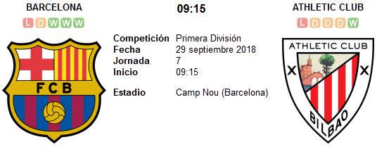 Barcelona vs Athletic de Bilbao en VIVO