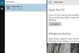 Cara Reset Windows 10 Tanpa Kehilangan Data