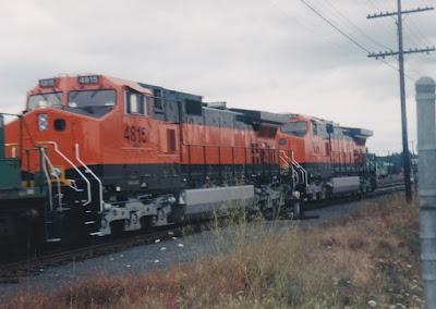 Burlington Northern Santa Fe Dash 9-44CW #4815 in Vancouver, Washington, in Summer 1998