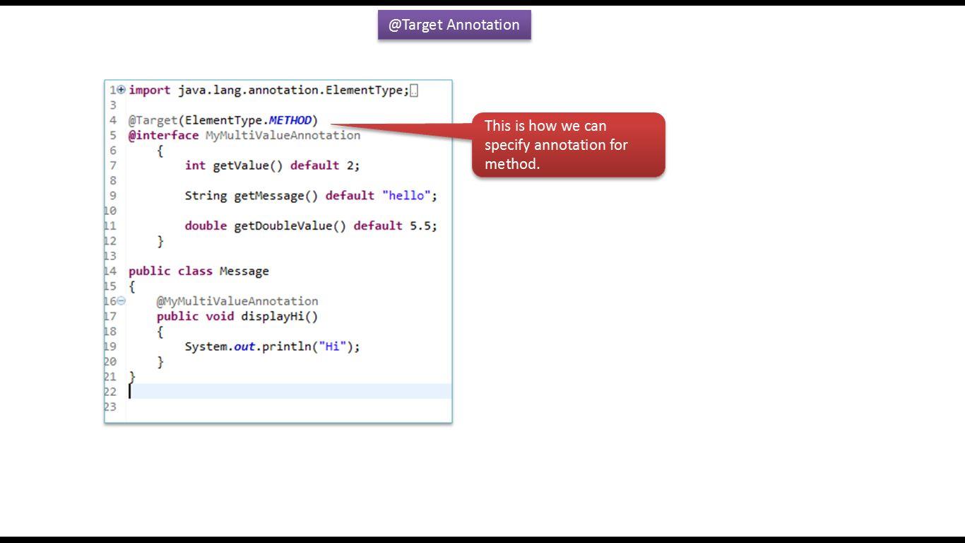 Java ee java tutorial annotations in java java annotations java tutorial annotations in java java annotations built in annotations in java target baditri Images