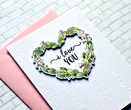 Neat & Tangled  Anniversary Card  Floral Wreath