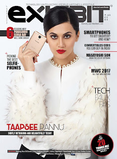 Taapse Pannu looks Elegant on cover of Exhibit Magazine March 2017