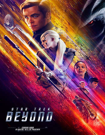 Poster Of Star Trek Beyond 2016 ORG Hindi Dual Audio 550MB BRRip 720p ESubs HEVC Free Download Watch Online downloadhub.in