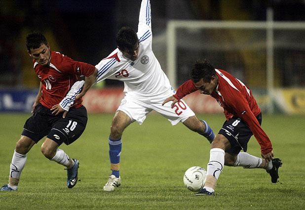 Chile y Paraguay en partido amistoso, 4 de noviembre de 2009