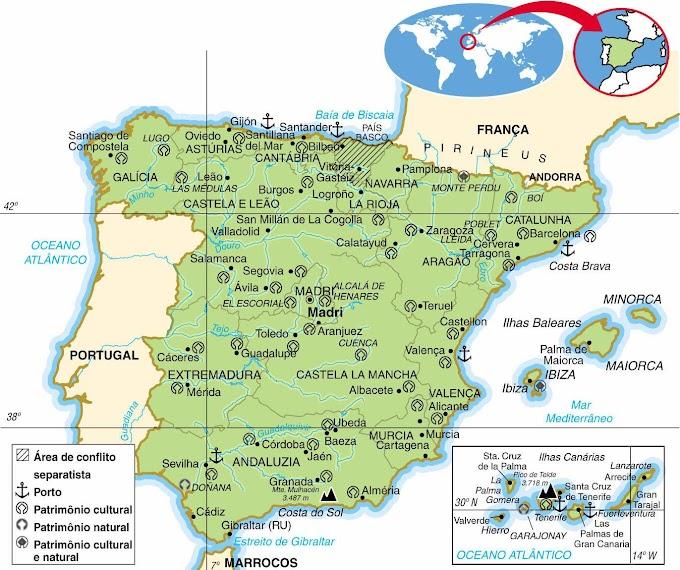 Espanha | Aspectos Geográficos e Socioeconômicos da Espanha