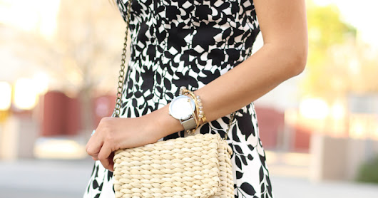Hello Spring: Black and White Floral Dress