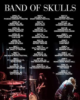 popa 39 s tunes band of skulls announce tour dates. Black Bedroom Furniture Sets. Home Design Ideas
