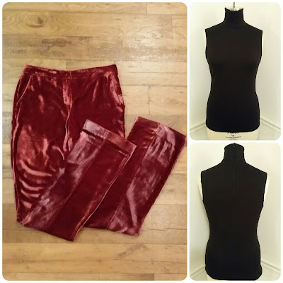 How to Wear Velvet Pants Fall 2015! Vogue 1465 top & Vogue 9032 Rayon Velvet Pants - Erica Bunker DIY Style!