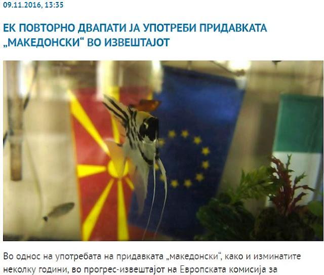 Έκθεση της ΕΕ χρησιμοποιεί τον όρο «Μακεδονία» και «μακεδονικός» για τα Σκόπια