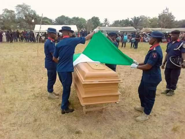 Photos from the burial of Civil Defence officer killed by Fulani herdsmen in Benue state