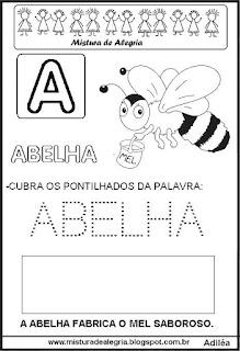 Bichonário desenho de abelha