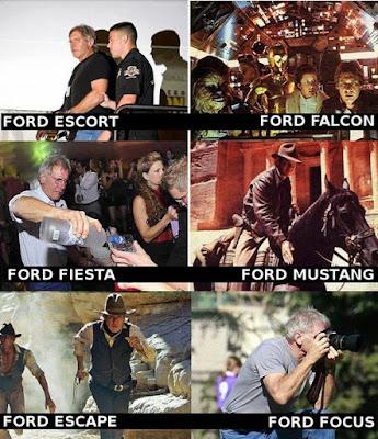Lustiger Harrison Ford Filmausschnitte mit Ford Autowerbung
