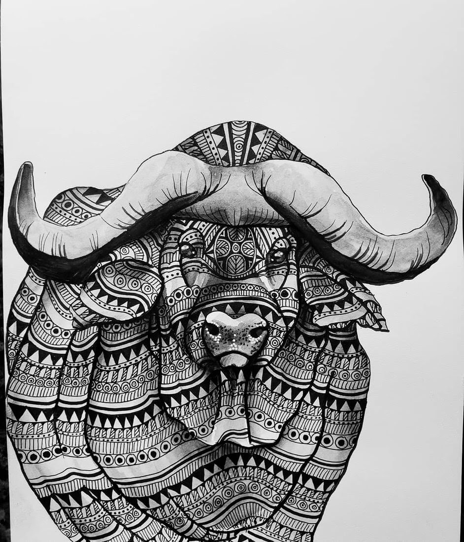 12-Water-Buffalo-Savanna-Zentangle-Wild-Animal-Drawings-www-designstack-co