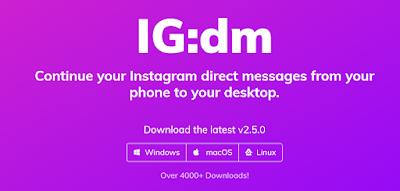 Buka DM IG lewat desktop sekarang bisa