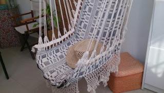 #Decoração, Cadeira em macramê, De balanço em balanço vou relaxando, Espaços de relax,