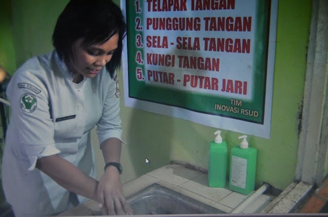 Delnan Lauende Persentasekan 'Hand Hygiene' di RSUD Kolonodale