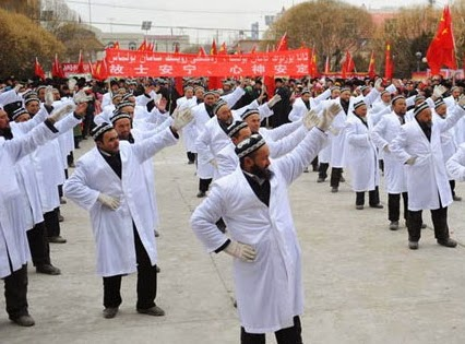 chinese imams dancing streets