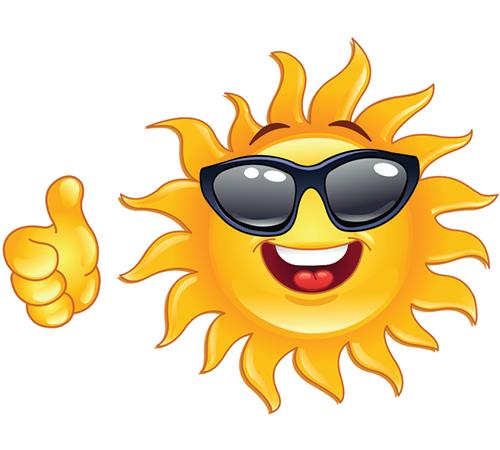 Smiling Sun Emoticon | Symbols & Emoticons