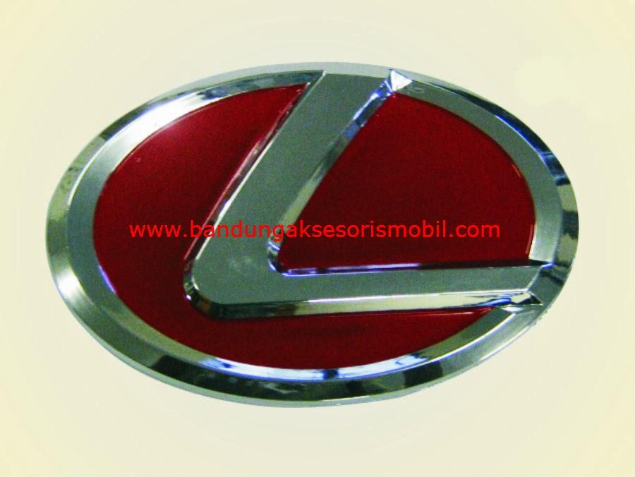 Emblem Logo Bulat Tempel Lexus Merah 13 cm
