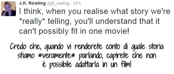 tweet di KR Rowling